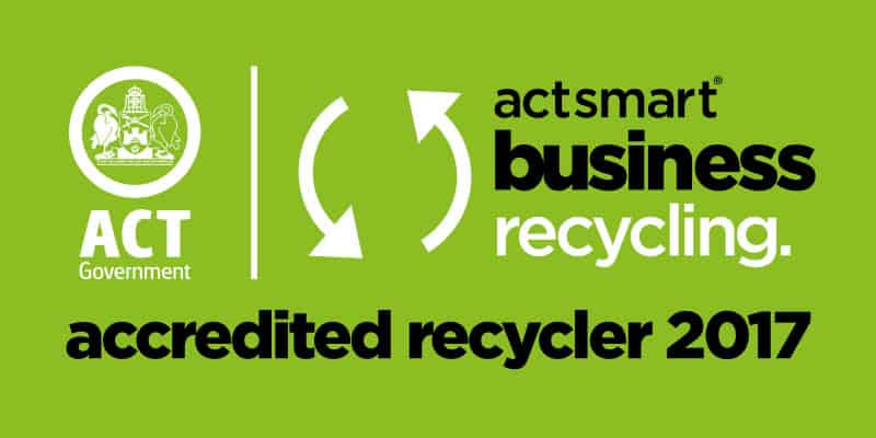 2017 Actsmart Business Recycling Green accredited